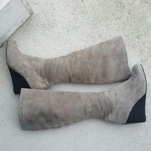 Women's  Cole Haan gray suede knee  high  boots